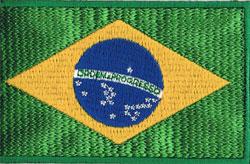 国旗ワッペン ブラジル(小)