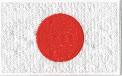国旗ワッペン 日本(小)