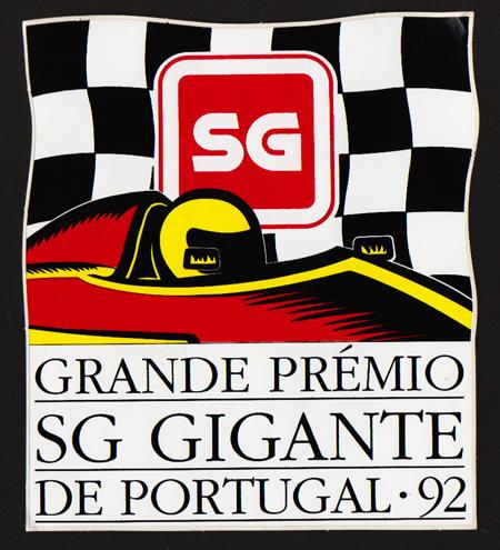 SGジャイアント(タバコ) 1992年 ポルトガルGP プロモーション ステッカー