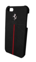 �ե��顼��iPhone5���С�����Ferrari Genuine Leather Back Cover Black Line ��
