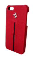 �ե��顼��iPhone5���С�����Ferrari Genuine Leather Back Cover Red Line ��