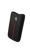 �ե��顼��iPhone5����������Ferrari Genuine Leather Sleeve Case��Black��