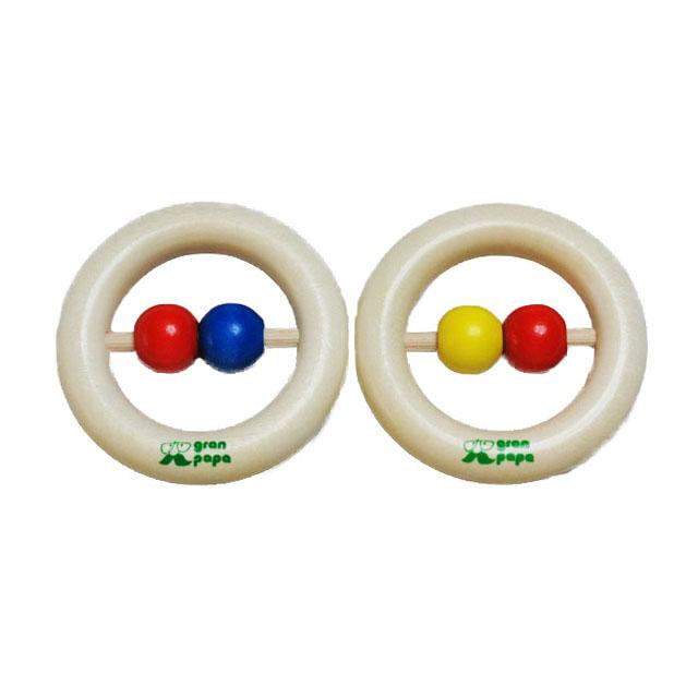 【0-3ヶ月頃〜】 GEPETTO ジペット はじめての木のおもちゃ ラトル 歯がため がらがら 丸ボール2