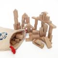 エバート 知育玩具 白木 積み木 70ピース