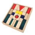 KOIDE 木のおもちゃ 日本製 カラー まーるい積み木 29ピース