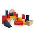 グランパパオリジナル 国産 カラー積み木セット 収納巾着付き 22ピース