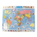ラーセン パズル 107ピース 世界地図1