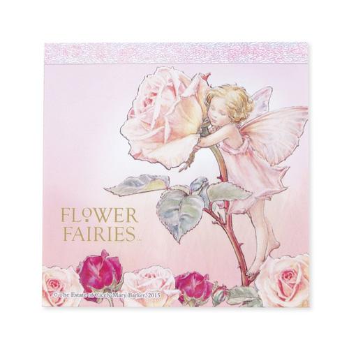 FLOWER FAIRIES メモパッド・スクエア<Rose>