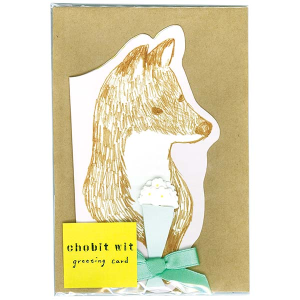 chobit wit グリーティングカード<fox>