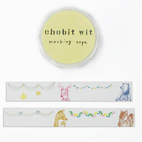 chobit wit マスキングテープ<animal>