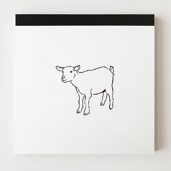 Animal Series メモパッド・スクエア<ヤギ>