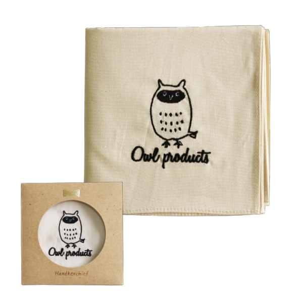Owl products ハンカチ<owl>