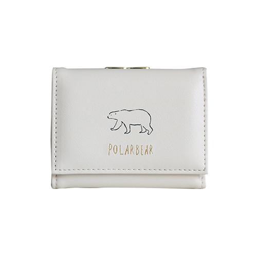 Animal Series 三つ折り財布<シロクマ>