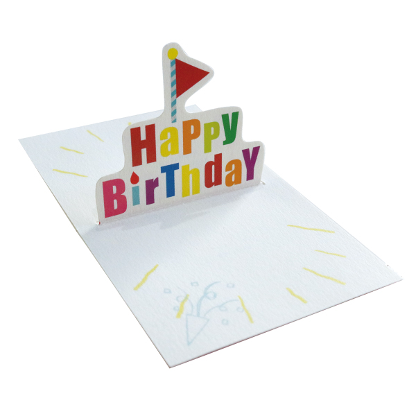 POP UP Minicard <Birthday flag> PCG-002