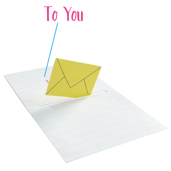 POP UP Minicard <Message> PCG-005