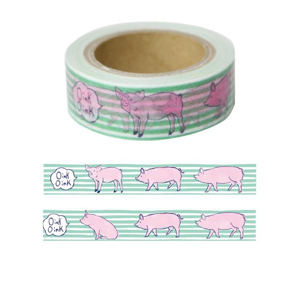 Animal Series マスキングテープ<ブタ> GF-394