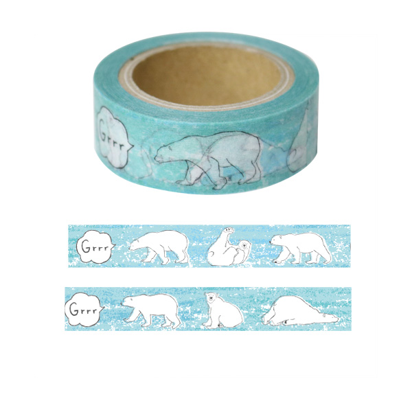 Animal Series マスキングテープ<シロクマ> GF-395