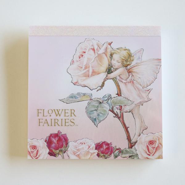 FLOWER FAIRIES メモパッド・スクエア<Rose_pink>FF-104