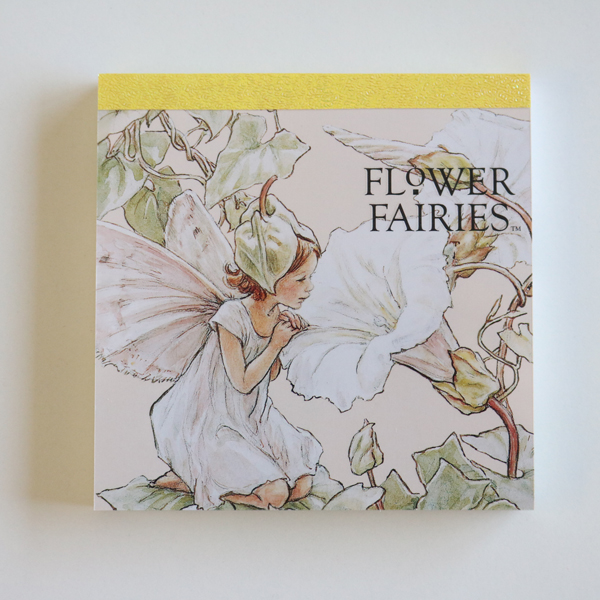 FLOWER FAIRIES メモパッド・スクエア<white_green>FF-106