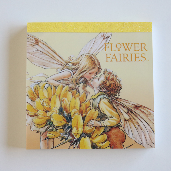 FLOWER FAIRIES メモパッド・スクエア<yellow_orange>FF-108