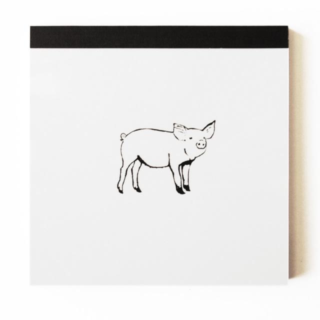 Animal Series メモパッド・スクエア<ブタ>