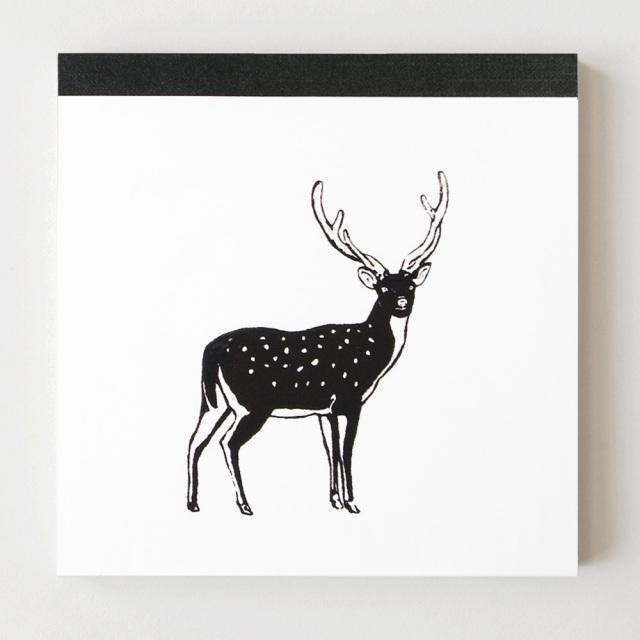 Animal Series メモパッド・スクエア<シカ>