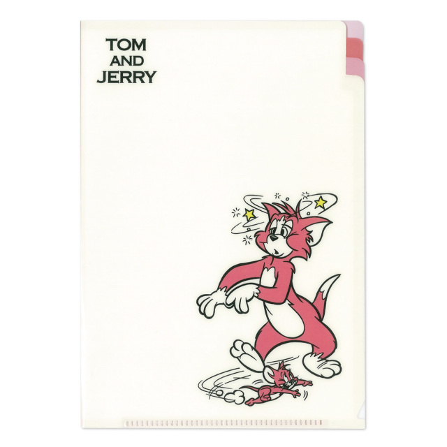 TOM and JERRY A5クリアファイル<トム&ジェリー・レッド>