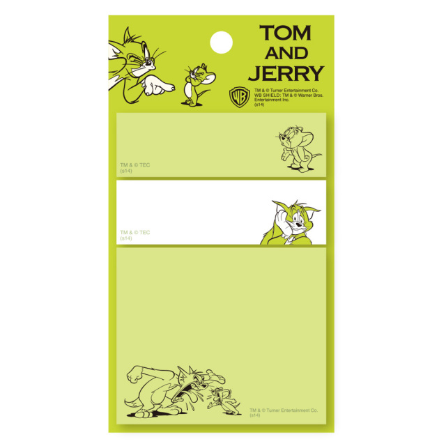 TOM and JERRY スティッキーメモ<トム&ジェリー・グリーン>