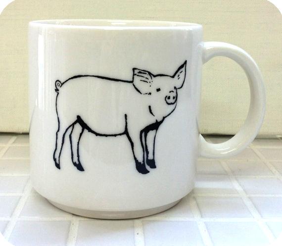 Animal Series マグカップ<ブタ> JA1100