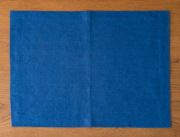 リネンのランチョンマット ブルー