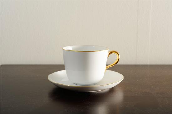 大倉陶園モーニングカップ ホワイト