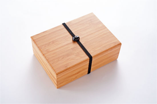 竹のお弁当箱 黒