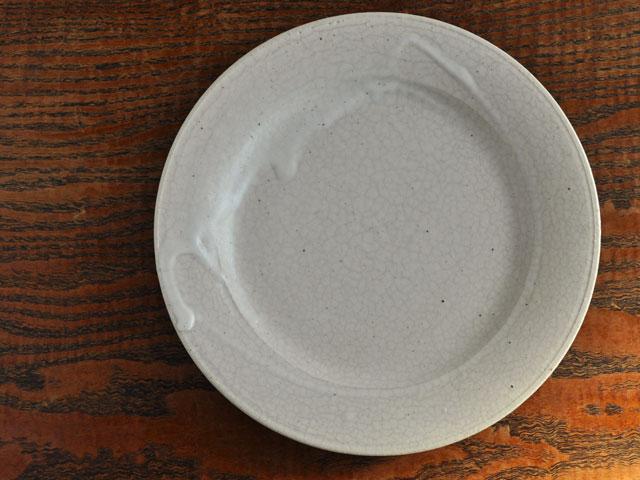 失透釉六寸リム皿-1