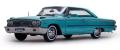 [予約]SunStar(サンスター) 1/18 フォード ギャラクシー 500 XL ハードトップ 1963 ピーコックブルー