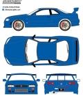 グリーンライト 1/18 1999 日産 スカイライン GT-R (R34) - Bayside Blue