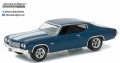 [予約]グリーンライト 1/64 1970 Chevrolet Chevelle SS 454 in Fathom Blue with White Stripes - 2017 GreenLight Trade Show Exclusive