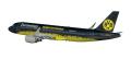 """[予約]herpa wings 1/100 A320 ユーロウイングス """"BVB Mannschaftsairbus""""D-AIZR ※プラスチック製"""