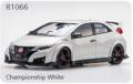 EBBRO (エブロ) 1/18 ★ホンダ シビック TYPE R 2015 (Japanese License Plate) チャンピオンシップホワイト