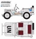 [予約]グリーンライト 1/43 Jeep Willys 国連仕様