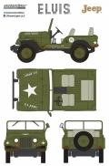 [予約]グリーンライト 1/43 Elvis Presley (1935-77) - Cold War Era Willy's Army Jeep