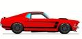 [予約]ACME 1/18 Boss 302 トランザム マスタング 1969 レッド