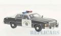 BoS Models 1/43 フォード LTD クラウン ヴィクトリア カリフォルニア ハイウェイ パトロール 1987 ブラック/ホワイト