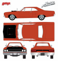 GMP 1/18 ワイルド・スピード SKY MISSION - Furious 7 (2015) - 1970 Plymouth Road Runner