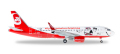 """herpa wings 1/200 A320 エアベルリン """"Lindt Hello Flying Home for Christmas"""" D-ABNM"""