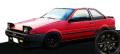 [予約]ignition model(イグニッションモデル) 1/18 トヨタ Sprinter Trueno (AE86) 2Door GTV レッド ★生産予定数:120pcs