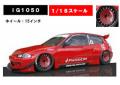 [予約]ignition model(イグニッションモデル) 1/18 PANDEM CIVIC (EG6) Red ★生産予定数:120pcs