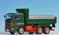 プラッツ/ケンクラフト1/50 日野プロフィアFS 6×4 ダンプトラック 緑 フルキャブ 標準ルーフ(赤シャシー)