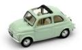 [予約]BRUMM(ブルム) 1/43 フィアット 500D オープン 1960-1965 ライトグリーン インテリア:ベージュアイボリー