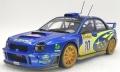 [予約]TOPMARQUES(トップマルケス)1/18 スバル インプレッサ S7 555 WRT No.10/2002 モンテカルロラリー ウィナー  トミー・マキネン/カイ・リンドストローム(ウェザリング塗装)