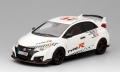 """[予約]TrueScale(トゥルースケール) 1/43 Honda シビック タイプ R 2016 """"Five European Tracks Front-Wheel Drive Record"""""""